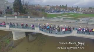 Women's March Napa Valley - Aerial Drone Foot...