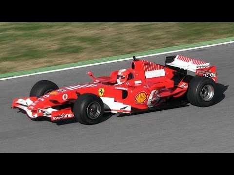 Ferrari 248 F1 (F2006) In Action - Ferrari 2.4L V8 Engine  Sound