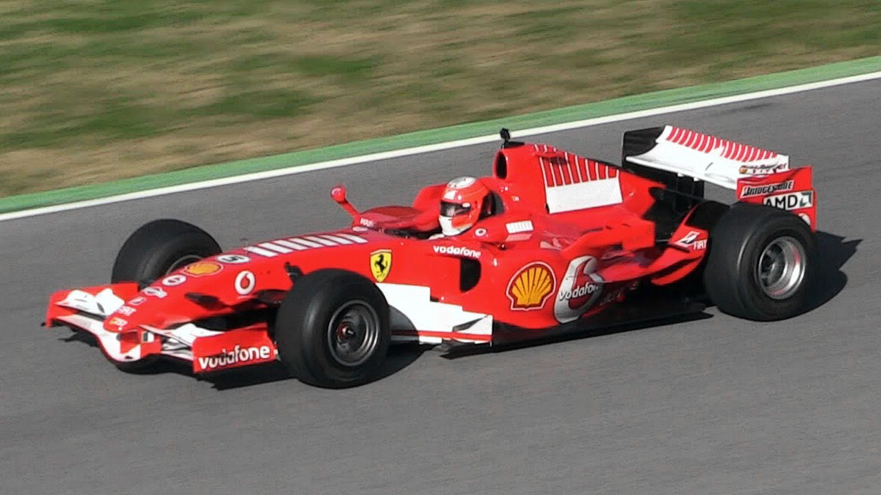 Ferrari 248 F1 F2006 In Action Ferrari 2 4l V8 Engine