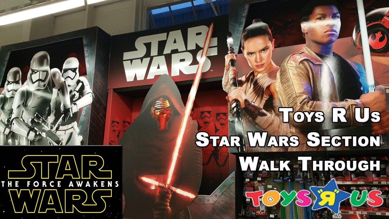 Star Wars The Force Awakens Toys R Us Walkthrough Toy
