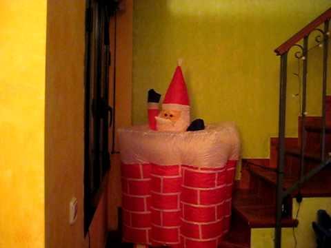 Papa noel saliendo youtube - Como construir una chimenea ...