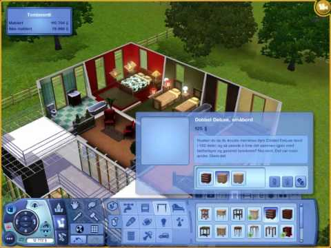 Sims 3 how to make a simple house 2 youtube for Minimalist house sims 2