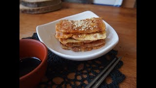 Корейская кухня: Кимчи чон (김치전), кимчи пучимгэ (김치부침개) или оладьи из кимчи.