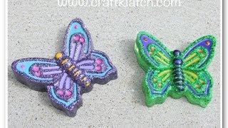 Diy Glitter Resin Butterflies How To Butterfly