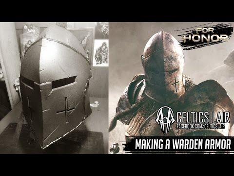Making a Warden Armor - Part 1: Helmet - YouTube