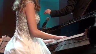 Анастасия Махамендрикова -13 лет. Ф. Шопен. Концерт для фортепиано с оркестром №2 - 1 ч.