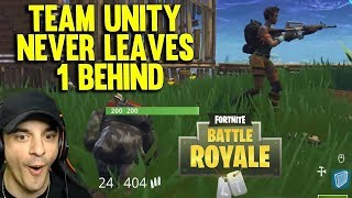 TEAM UNITY NEVER LEAVES ONE BEHIND - FORTNITE SQUAD GAMEPLAY #2