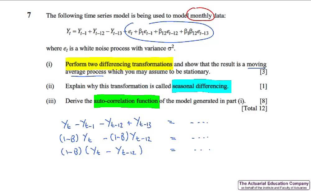 CT6 Statistical Methods April 2015 Exam Review YouTube
