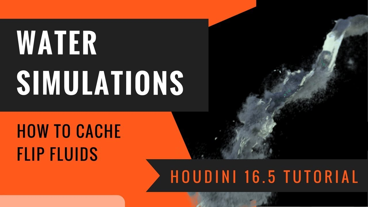 4 Ways to Cache Water Flip Fluid Simulation in Houdini