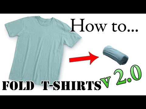 Army Packing Hack 2.0: How To Fold A T-Shirt For Vacation - Compact, Efficient Ranger Roll