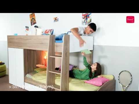Parisot Etagenbett Bibop : Kinderbett etagenbett hochbett kinder bett holz betten