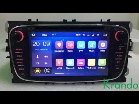 krando android 7.1 car radio for ford focus 2008-2011 car multimedia wifi RDS OBD2