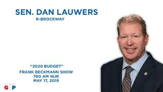 Sen. Lauwers discusses the FY 2020 budget with Frank Beckmann