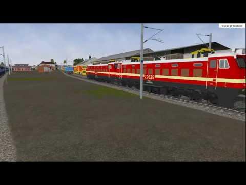 MSTS Indian Railways Howrah JN. to Bardhaman JN. simulation via OpenRails
