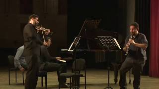 Paul Schonfield: trio for Violin, Clarinet and Piano at the YMCA Jerusalem / Trailer
