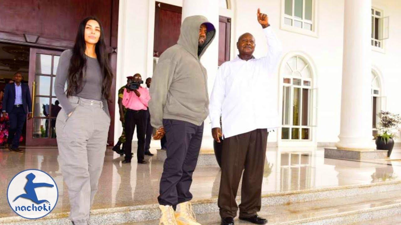 Kanye West & Kim Kardashian Pay a Visit to Ugandan President Museveni