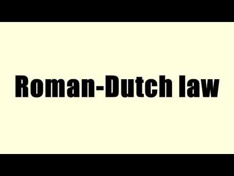 Roman-Dutch law