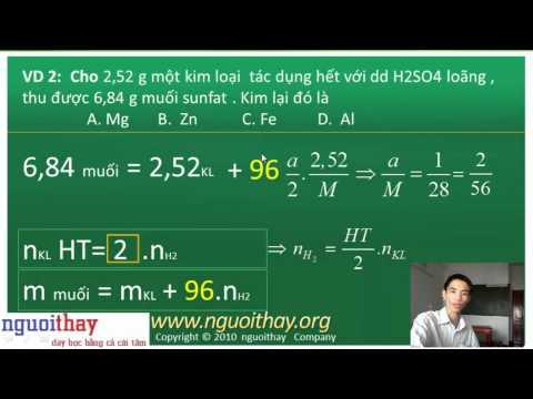 Các công thức giải nhanh và ví dụ trong hóa vô cơ (phần 2)