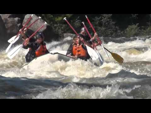 Whitewater Rafting on the penobscot river in millinocket maine