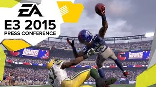Madden NFL 16 Gameplay Trailer  - E3 2015 EA Press Conference