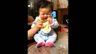 Cute Chinese Baby Girl Laughing Then Scared of Peek-A-Boo