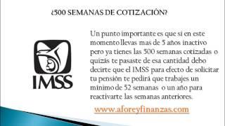 500 semanas de cotización en Ley 73 del IMSS