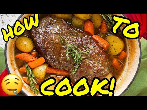 HOW TO COOK ROAST BEEF • ROAST WITH CARROTS AND POTATOES