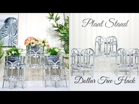 Diy Plant Stand using Dollar Tree items!| Quick and Easy Home Decorating idea!