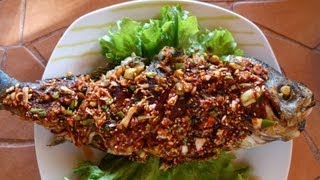 Korean Style Fried Snapper With Seasoning Sauce/ 생선구이 양념잠