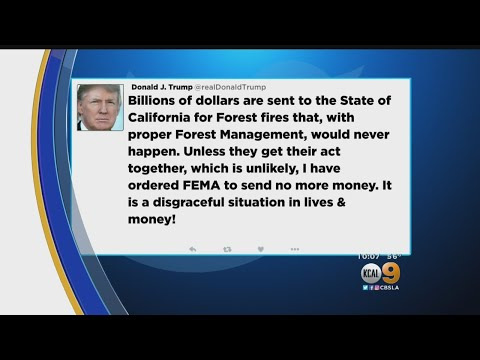 Trump Threatens To Cut Off Aid To CA Fire Victims