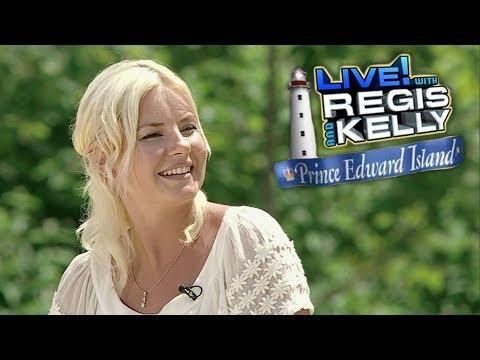Elisha Cuthbert on Live with Regis and Kelly (Prince Edward Island, July 15 2010)