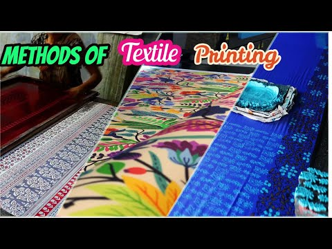 What Is Textile Printing || Different Methods Of Textile Printing