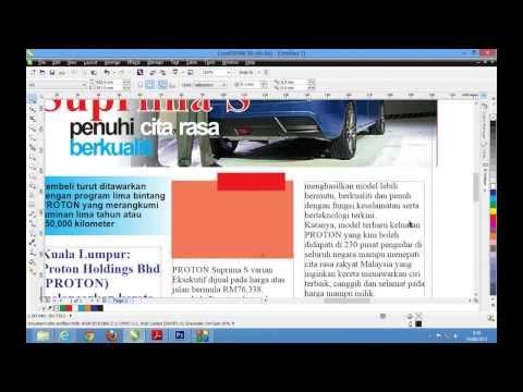 Membuat Majalah @ Risalah menggunakan CorelDraw X6