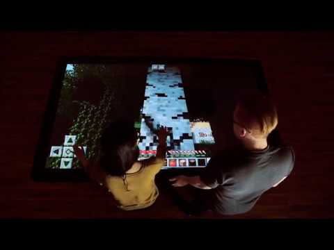 Playing Minecraft on the World's Largest Production Touch Table