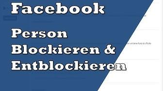 Facebook Person blockieren & rückgängig machen   Tutorial