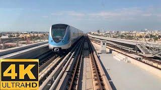 [4K 60fps]Dubai Metro-Journey between Etisalat and Burjuman stations on Green line