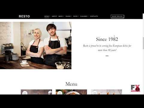 Resto - Cafe & Restaurant Multipage Website Template TMT | Free Templ