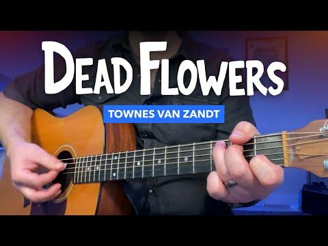 """🎸 """"Dead Flowers"""" guitar lesson (Big Lebowski / Townes Van Zandt)"""
