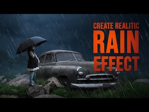 Rain Effect using Noise and Levels in Photoshop CC 2019 Version   Arunz Creattion