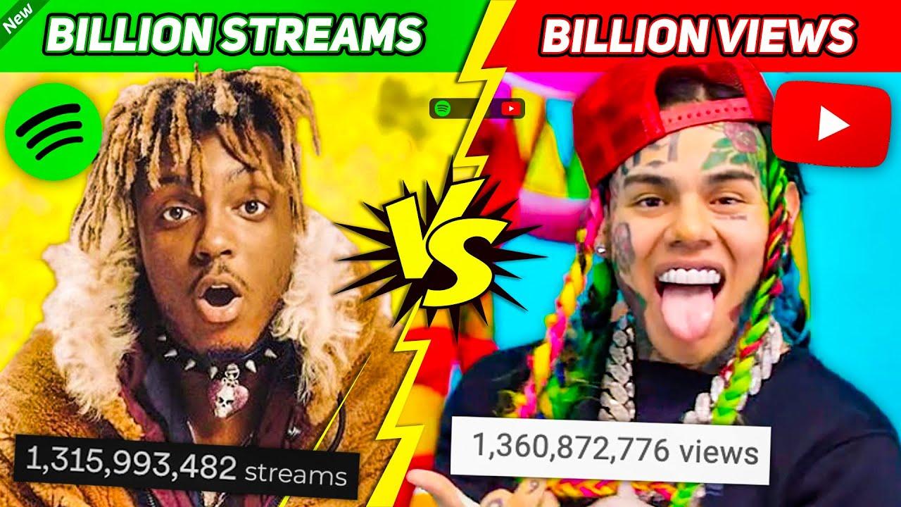 Download Rap Songs with a BILLION STREAMS vs. Rap Songs with a BILLION VIEWS