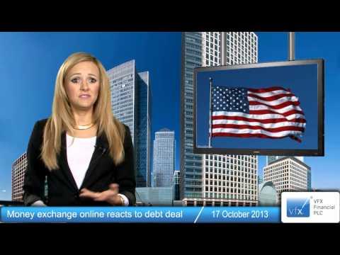 Money exchange online reacts to debt deal
