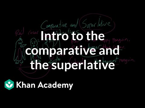 Intro To The Comparative And The Superlative | Modifiers | The Parts Of Speech