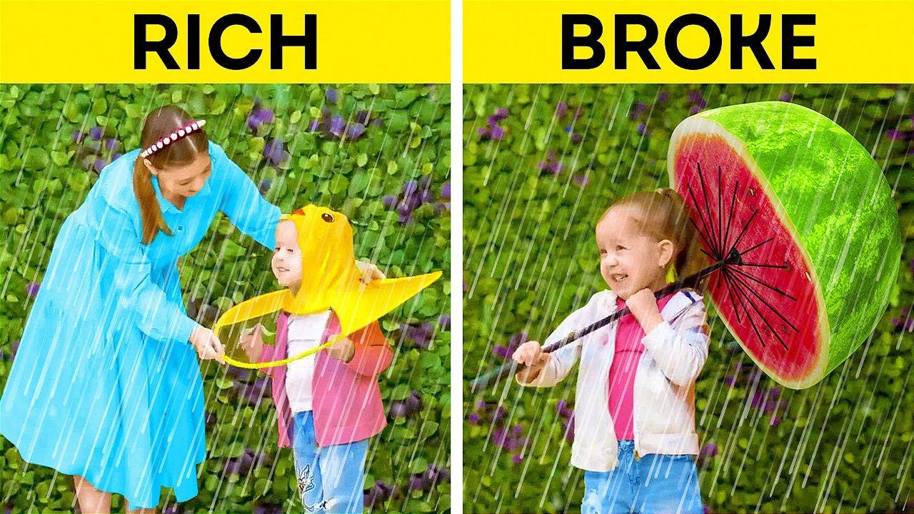 Download RICH MOM vs BROKE MOM    New Gadgets, Fun DIYs and Hacks