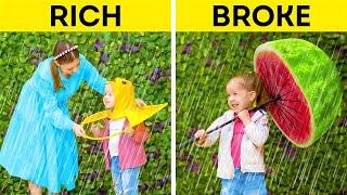 RICH MOM vs BROKE MOM  New Gadgets, Fun DIYs and Hacks