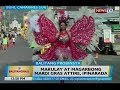 Makulay at magarbong mardi gras attire, ipinarada