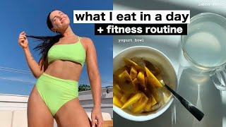 VLOG: what I eat in a day + my fitness routine