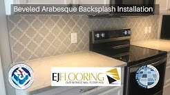 How To Install Beveled Arabesque Backsplash - Complete Job