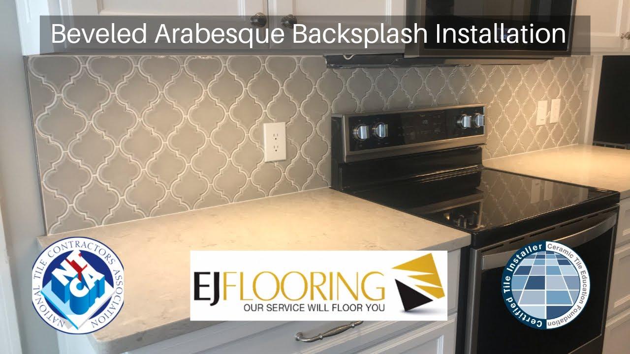 - How To Install Beveled Arabesque Backsplash - Complete Job - YouTube