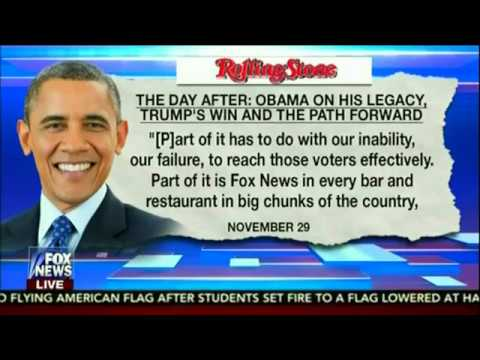 OBAMA BLAMES FOX NEWS FOR THE DEMOCRATIC PARTY LOSS!!