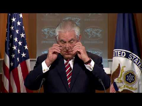 WOW: Rex Tillerson AMAZING State Department Press Briefing President Donald Trump Military Strategy